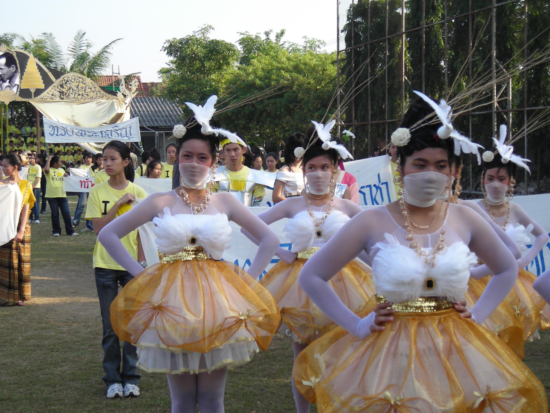 タイの高校の運動大会①
