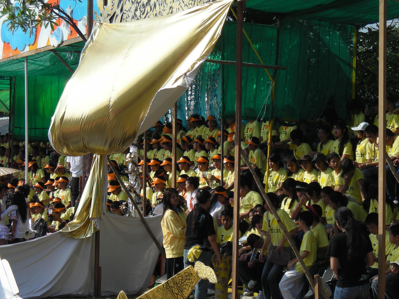 タイの運動会・応援席の様子