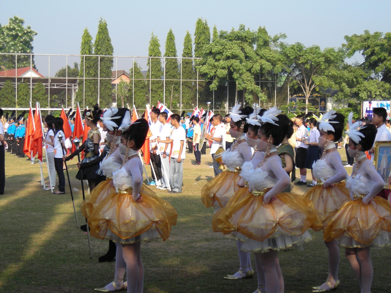 好評!?タイの高校の運動会