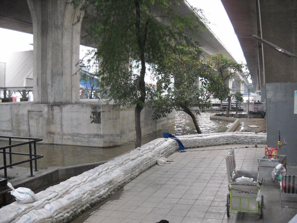 サパーンタクシン駅の下周辺