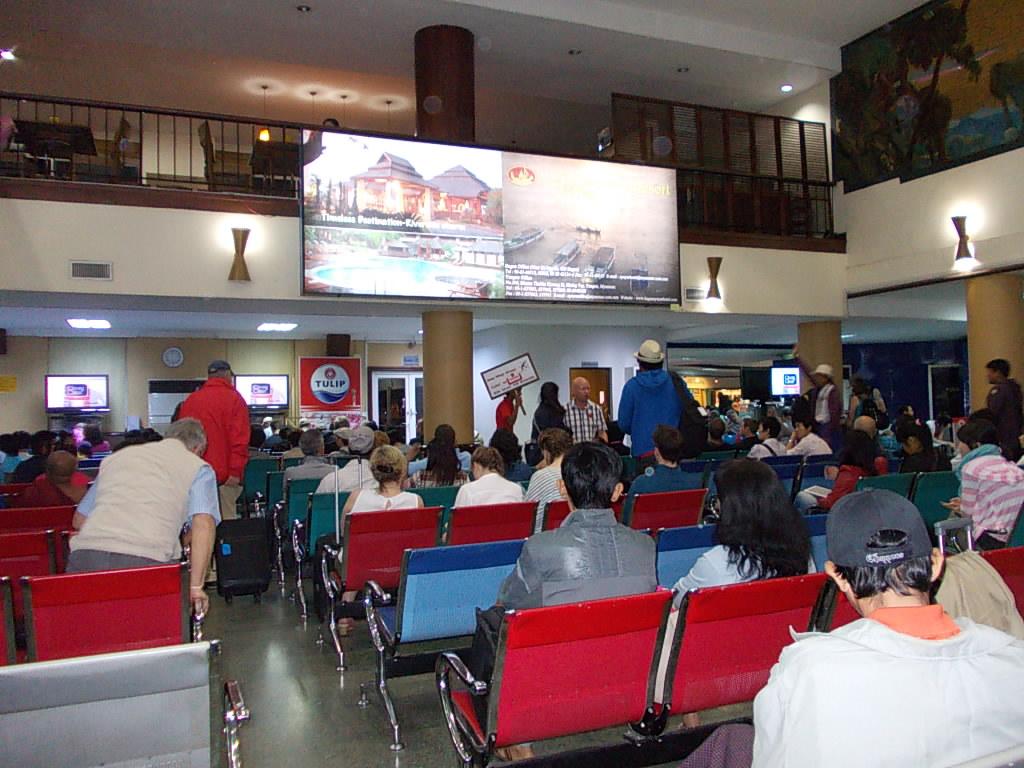 ヤンゴン空港(国内線)待合室