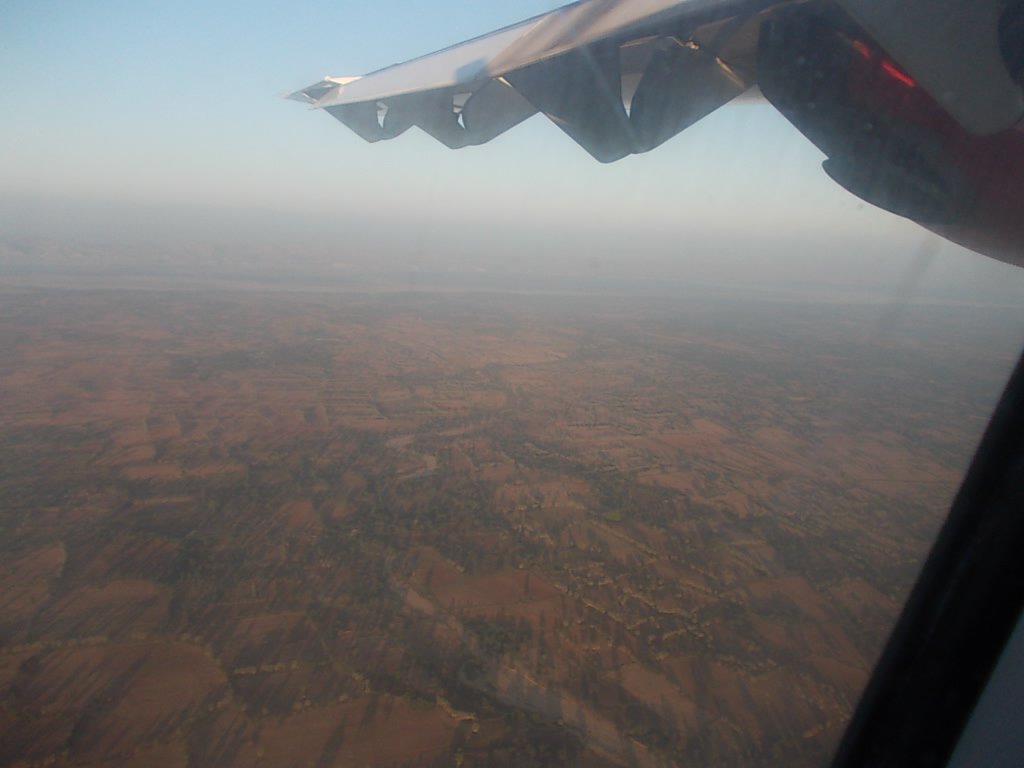 飛行機から見えるバガン