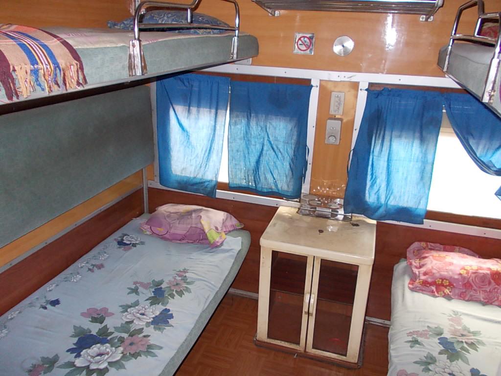 バガン~ヤンゴン、寝台車