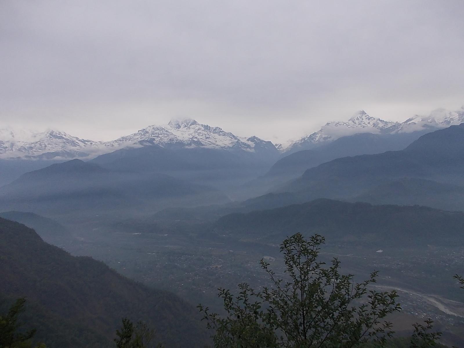 サランコット 展望台から見るヒマラヤ